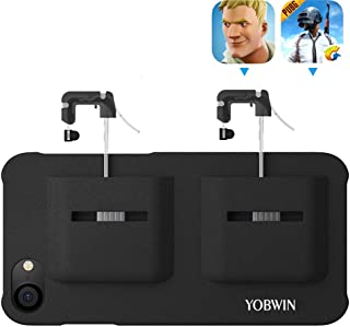 Mobile Game Controller Case for iPhone 8/7 / 6, Phone Cover for PUBG L1R1 Trigger Joystick Gamepad Grip Remote, for Apple iOS (4.7 inch Black)