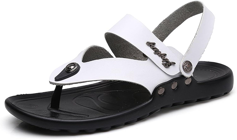 RONGLINGXING Mode Sommer im Freien, Herren Freizeit Thongs Flip Flops, Casual Comfort rutschfeste Sohle Strandsandale (Farbe   Wei, Gre   44 EU)