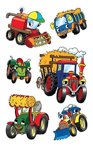 AVERY Zweckform 53144 Kinder Sticker Traktoren 18 Aufkleber