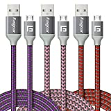 Micro USB Cable, 3 Pack (6ft/1.83M) Fasgear Nylon Braided Fast Charging Cable Compatible