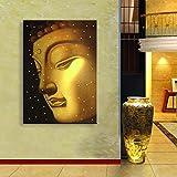 T.T-Q Buda decorativo de oro LED marco de fibra de vidrio decoración del hogar decoración regalo arte de la pared para la sala de estar del dormitorio 35 * 50 cm