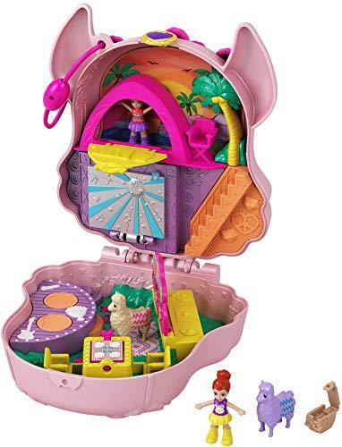 Polly Pocket- Cofanetto Lama Music Party con Micro Bambole di Polly e Lila, Accessori Giocattolo per Bambini 4+Anni, GKJ50