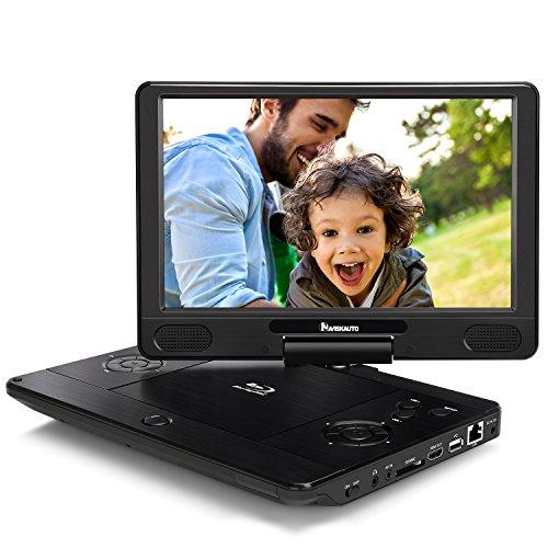 NAVISKAUTO 12 Zoll Tragbarer Blu-ray Player DVD Player 1024x600 Full HD Heimkino 1080P MP4 Video mit USB HDMI SD Anschlüsse Akkudauer 3 Stdn. Geräuscharme Tasten PB1221B