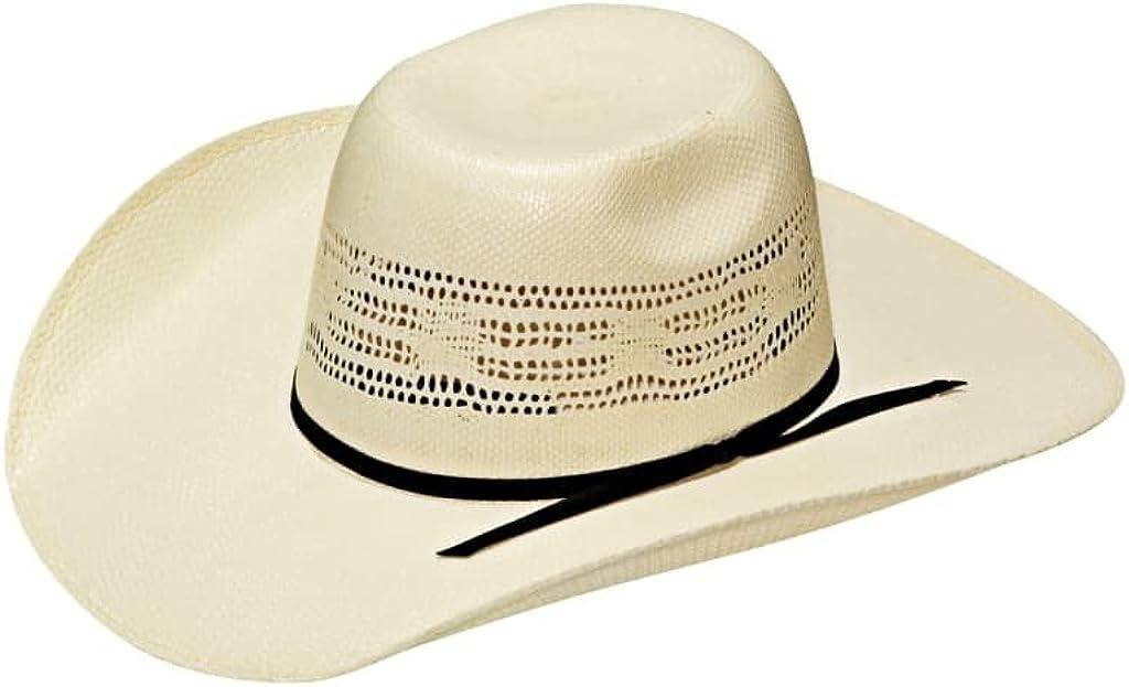 Twister Boys Bangora Natural Cool Hand Luke Precreased Straw Hat L Ivory