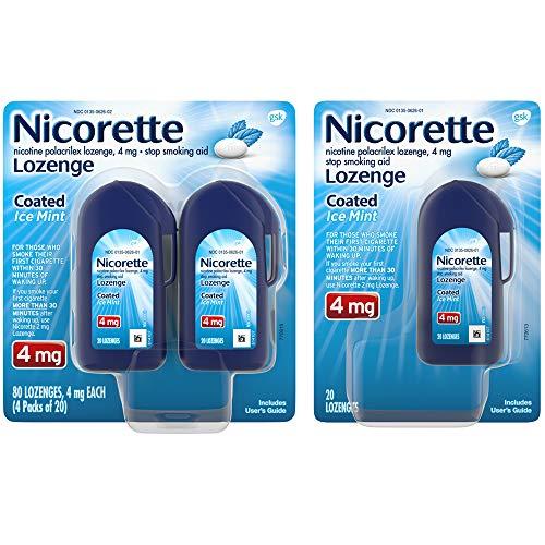 Nicorette Lozenges Coated Ice Mint Nicotine To Stop Smoking, 4 Mg, 100 Count