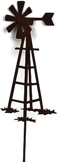 Rusted Metal Windmill Garden Stake (15)