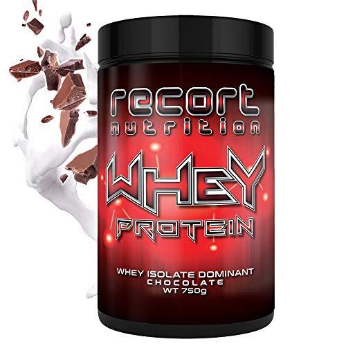 Whey Protein (Schokolade) | 750 g Eiweißpulver reich an essentiellen Aminosäuren EAAs und BCAAs | Eiweiß-Shake zum Muskelaufbau | Made in Germany | Recort Nutrition