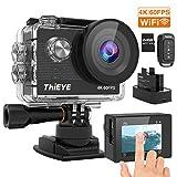 【進化版4K/60FPS】ThiEYEアクションカメラ4K高画質2000万画素リモコンサポート手振れ補正WiFi搭載 60M防水 2インチタッチスクリーン 1100mAh大容量バッテリー2個 水中カメラ アクションカム
