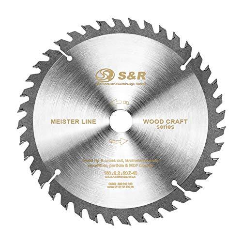 S&R Hoja Sierra Circular de 160 mm x 20 mm (+ 16 mm anillo)