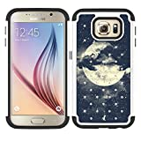 MagicSky S7 Case, Galaxy S7 Case, [Shock Absorption] Studded Rhinestone Bling Hybrid Dual Layer Armor Defender Protective Case Cover for Samsung Galaxy S7 (Night Sky)