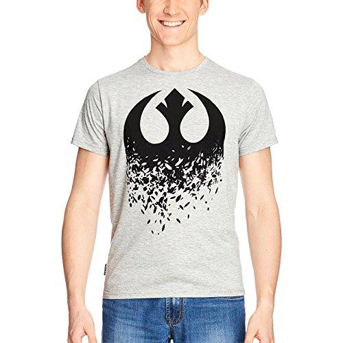 Star Wars Camiseta rebelde Logo Broken Hombres de Gris Elbenwald