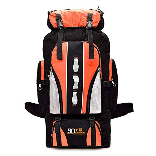LILINA Outdoor Backpack 40L Lightweight Foldable Backpack Water-Resistant Ripstop Nylon Hiking Backpack, Sport Daypack Travel Bag for Climbing Camping Touring,Orange