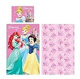 Parure de lit Disney Princesses–Taie d'oreiller, 40x 55cm et housse de couette 90x 140cm, 100% coton