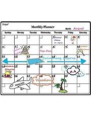 Eachgoo Calendario Magnético para Nevera, Pizarra Magnética Mensual y Semanal para Planificador de Menú,Recordatorio, Lista de la Compra