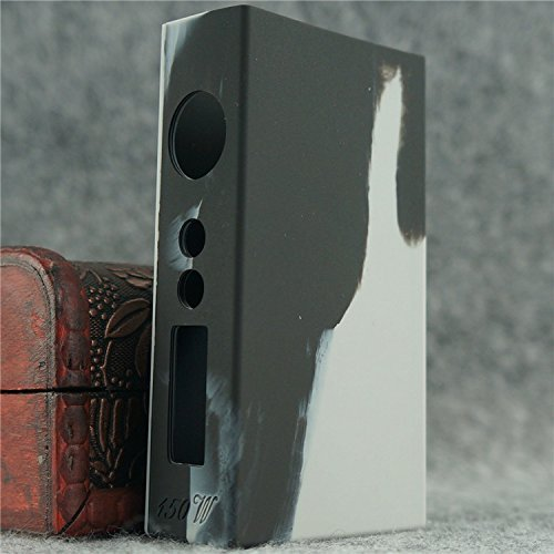 Silicone Case for Sigelei 150w Box Mod Protective Sleeve Cover Wrap (Grey/Black)