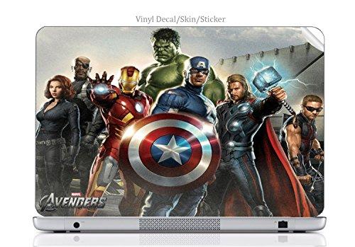 Laptop VINYL DECAL Sticker Skin Print Comic Book Hero fits HP 15.6' (Model 15-d038dx) Laptop
