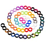 56pcs Colorful Silicone Ear Gauges Double Flared Ear Tunnels Set Stretchers Expander Ear Piercing Jewelry 8mm
