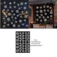 1セットクリスマススノーフレークステッカークリスマスウォールステッカー部屋の装飾ホーム新年の装飾用品