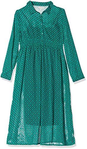 ESPRIT Maternity Damen Dress Maxi nurs ls AOP Kleid, Grün (Teal Green 372), (Herstellergröße: 40)