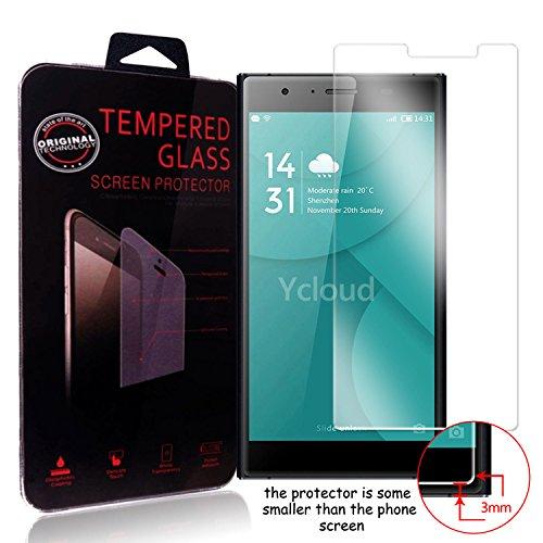 Ycloud Panzerglas Folie Schutzfolie Bildschirmschutzfolie für Doogee Y300 screen protector mit Festigkeitgrad 9H, 0,26mm Ultra-Dünn, Abger&ete Kanten