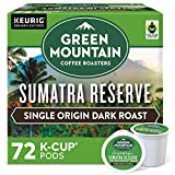Green Mountain Coffee Roasters Sumatra Reserve, Single-Serve Keurig K-Cup Pods, Dark Roast Coffee, 72 Count