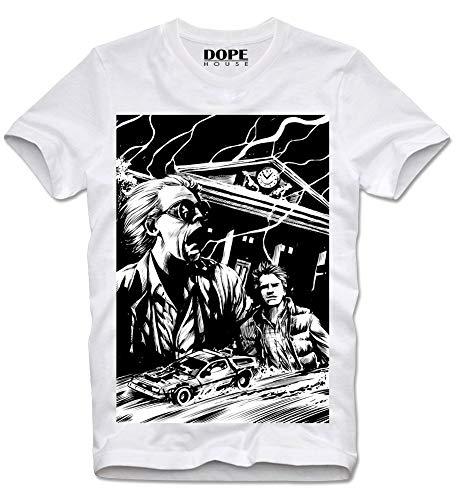 DOPEHOUSE T-Shirt Camiseta Doc Brown Marty MC Fly Regreso al Futuro Sci Fi Kultfilm M