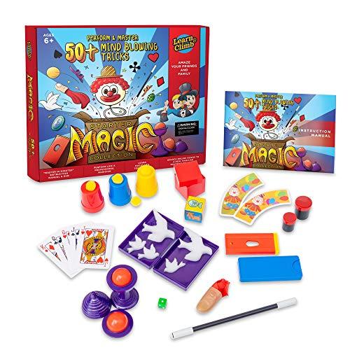 Learn & Climb Magic kit Set for Kids - 50+ Magic Tricks. Clear Instruction Manual & DVD