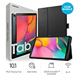 Samsung Galaxy Tab A T510 10.1-Inch Touchscreen 32 GB Tablet (2 GB Ram, Wi-Fi, Android OS, Black) International Version Bundle with Case, Screen Protector, Stylus and 32GB microSD Card