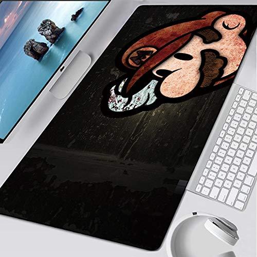 JIACHOZI Alfombrilla Gaming XXL Negro Juego Personaje Pipa 900×400×3mm XL Alfombrilla Raton Ordenador Grandes Gaming Mousepad Alfombrilla Raton Mat para Mesa de Trabajo PC y Portátil