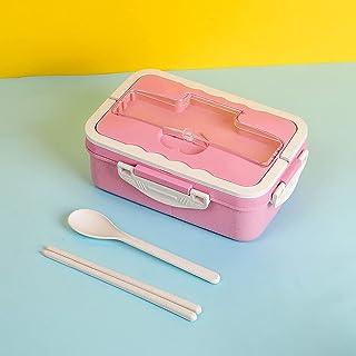 FEIGAO Lunch Box,La Paille De Blé Bento Box,Grande Capacité 1000ml,Boite Repas Compartiment,Rangement Et Organisation De C...