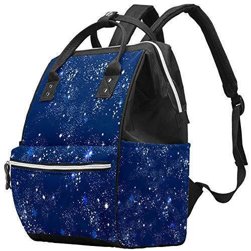 Maman Sac à Langer Sac à Dos Galaxy Star Bleu Multifonction Imperméable à l'eau Sac à Dos de Voyage pour Soins de Bébé