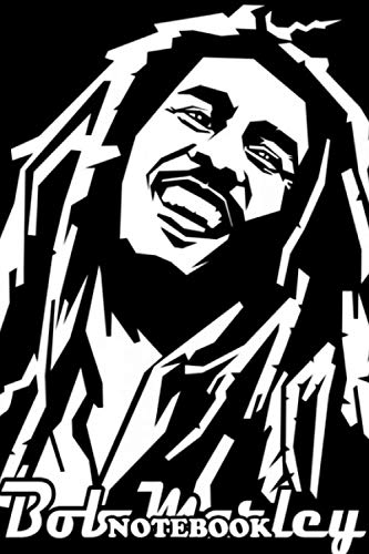 Notebook: Bob Marley In Line Art Portrait With Black White Line C , Journal for Writing, College Ruled Size 6