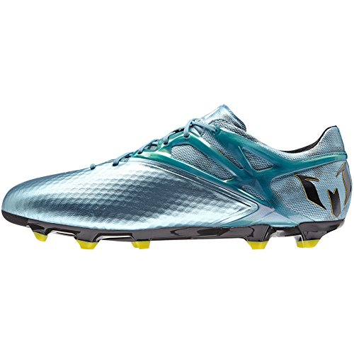 adidas Mens Messi 15.1 FG/AG Firm Ground/Artificial Grass Soccer Cleats 10 1/2 US, Matte Ice Metallic