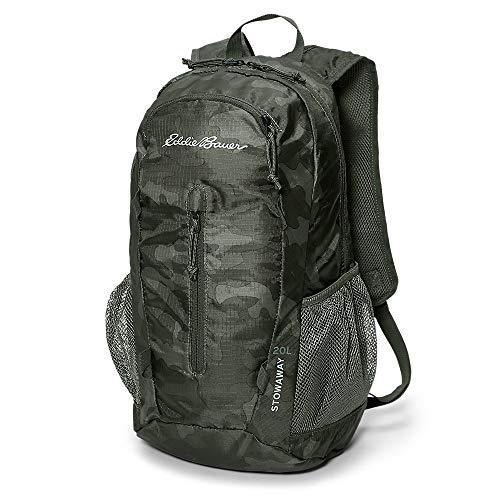 Eddie Bauer Unisex-Adult Stowaway Packable 20L Daypack, Camo Regular ONE SIZE