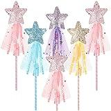 Skylety 6 Piezas Varitas de Estrella Brillantes Varita de Princesa Varita de Hadas Palo de Hadas de...