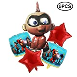 5PCS Incredible Balloons Birthday Party Supplies for Kids Baby Shower Party Decorations