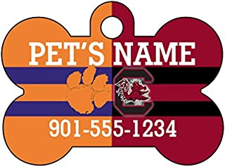 uDesignUSA NCAA House Divided Pet Id Dog Tag Personalized w/Name & Number