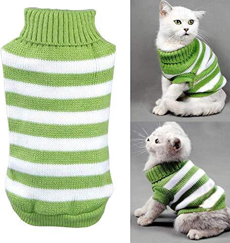 Kätzchen-Kleidung, Pullover für Katzen, Winter-Kostüm für Haustier-Katzen, Jumper, stark dehnbar, bequem für kleine…