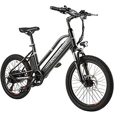 ANCHEER Electric Bike Ebike, 20'' Electric Bicycle with 36V 10Ah Removable Lithium-Ion Battery, 350W Motor and Professional 6 Speed Gear