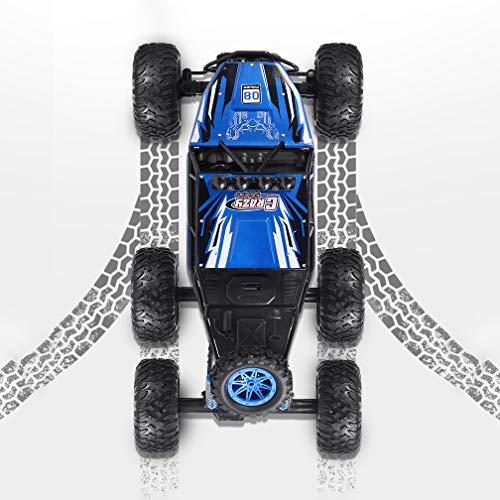 VanFty 2021 NUEVO Coche Off-Road 1: 8 RC Cars Monster Truck 6WD 3 Motores 2.4GHz Recargable Off Road Truco de control remoto Vehículos de carreras de alta velocidad Camión aficionado para niños Cumple