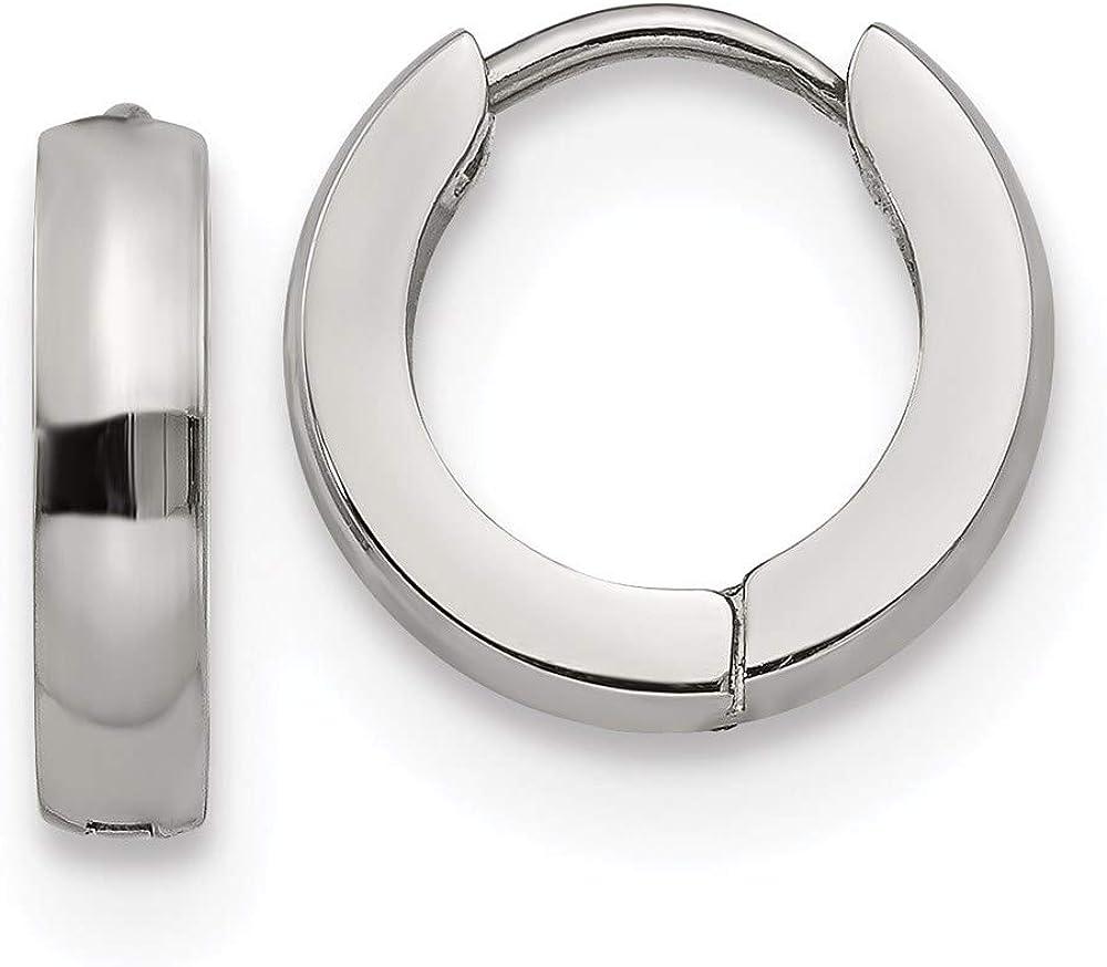 Stainless 5 ☆ very Dealing full price reduction popular Steel 3.0mm Earrings Hinged Hoop