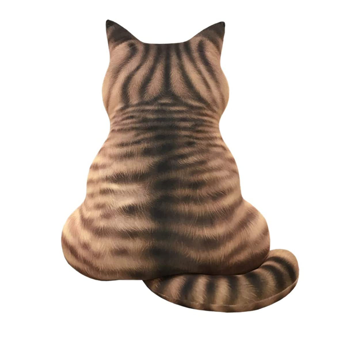 ?? Pillow Clearance, 3D Printed Cat Cushion Plush Toy Gift Simulation Cat Pillows Home Sofa Decor (F)