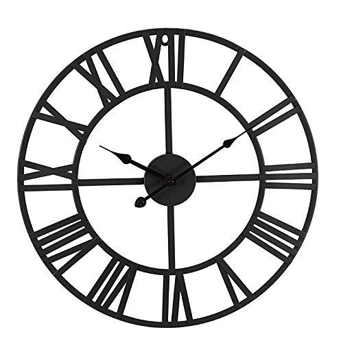 LJJYF Mediterrane Wanduhr, runde dekorative Uhr @ E,Wanduhr Kinderuhr