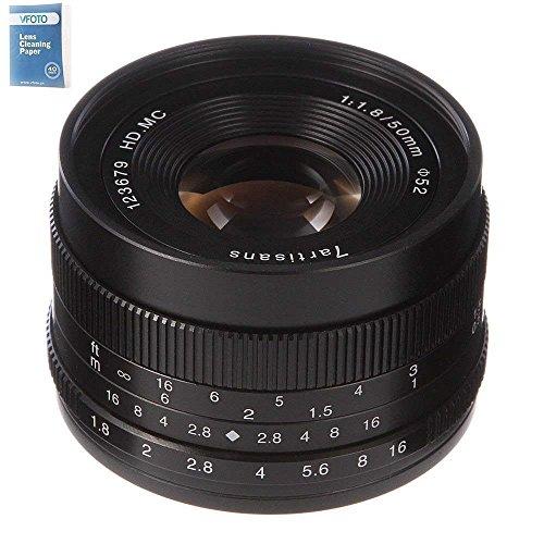 7artisans 50mm/F1.8 APS-C Manual Focus Prime Fixed Lens for for M4/3 Mount GH1, GH2, GH3, GH4, GX1, GX7,E-PL1, E-PL2, E-PL3, E-PL5, E-PL6, E-PL7, E-M1, E-M5, E-M10