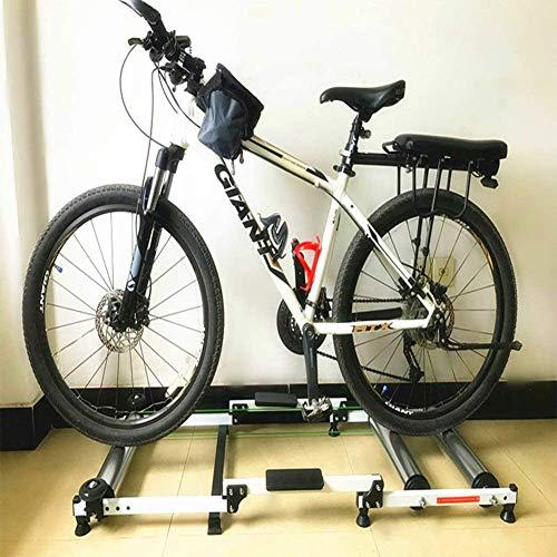 PETSUPPLY Vélo Indoor Trainer Stand, Vélo Magnétique Turbo Trainer Roller Indoor Cycling Pliable Entraîneur Vélo VTT Entraîneur Vélo De Route Station D'entraînement pour 16 '' - 29 '' Bike