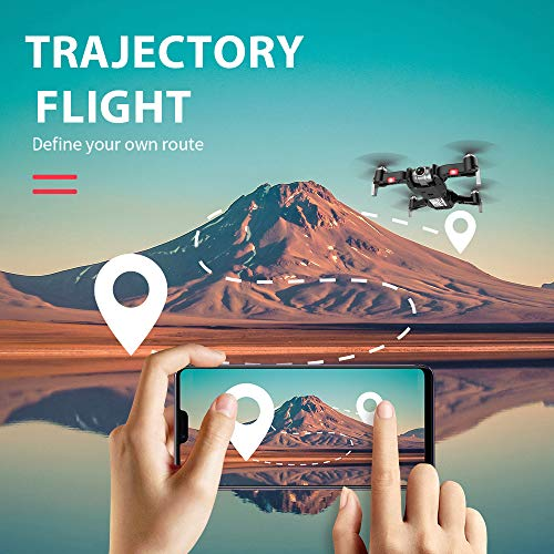 Goolsky S20 RC Drohne Mit Kamera 4 Karat GPS APP Folgen Modus Faltbare Quadcopter Drohne für Erwachsene 3 Batterie