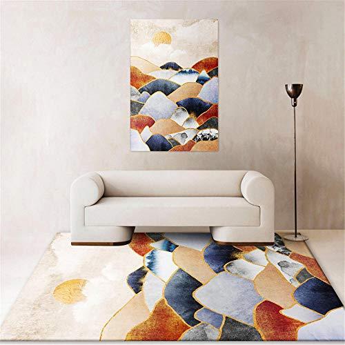 Kunsen moquetas alfombras habitacion Alfombra del Dormitorio de la Sala de Estar Rectangular Moderna a Prueba de Humedad, Antideslizante y anticaída Alfombra Grande 120X200CM 3ft 11.2' X6ft 6.7'