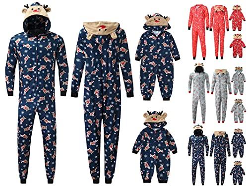 Matching Family Christmas Pajamas Set Hoodie Pajamas Reindeer Jumpsuit...