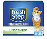 Fresh Step Advanced Clumping Cat Litter with Activated Charcoal & Natural Odor Control - Unscented, 18.5 lb