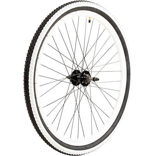 Galano Laufrad 26 Zoll Fahrrad Mountainbike hinten/vorne/Set Toxic MTB Aluminium (weiß, hinten)